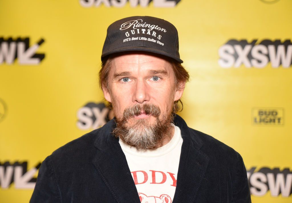 Red carpet photo of Ethan Hawke