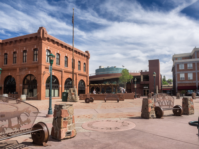 The main square in Flagstaff