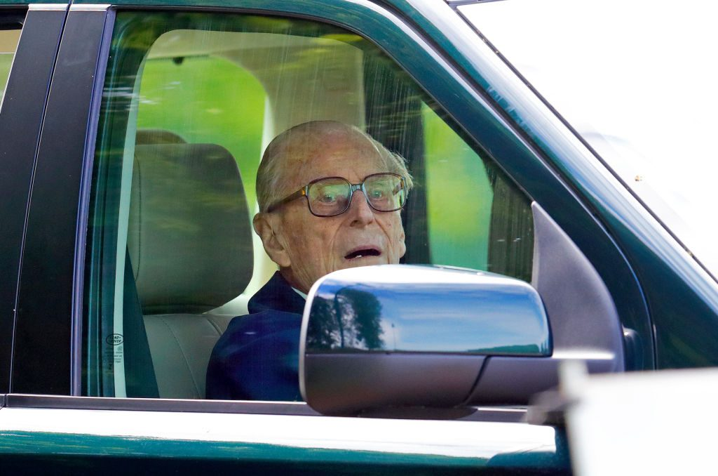Prince Philip driving