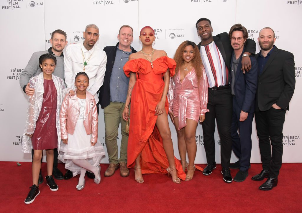 "Ben Howe, Jose Rodriguez, Jazmyn C. Dorsey, Alanna Renee Tyler-Tompkins, Luca Borghese, Slick Woods, Khris Davis, Director Sam de Jong, and Nathan Halpern attend the ""Goldie"""