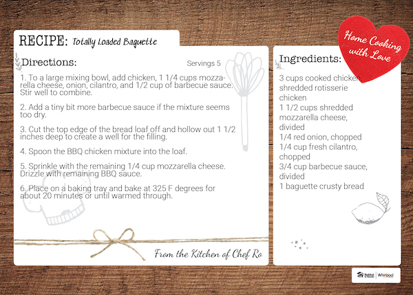 Totally Loaded Baguette Recipe card
