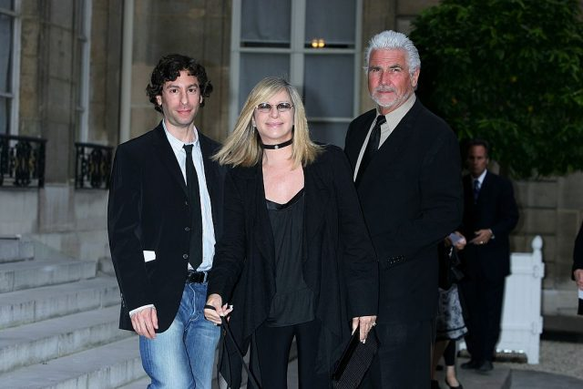 Jason Gould, Barbra Streisand, and James Brolin.
