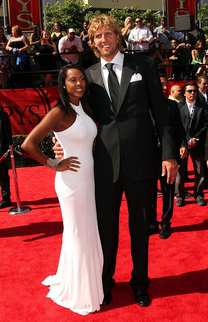 Jessica Olsson and Dirk Nowitzki