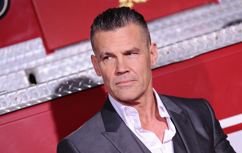 """Josh Brolin attends the premiere of """"Only the Brave"""" at Regency Village Theatre."""