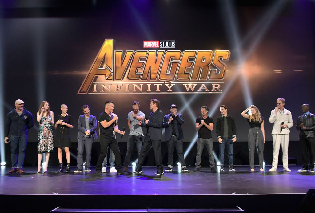 Josh Brolin and The Avengers cast  Charley Gallay/Getty Images for Disney