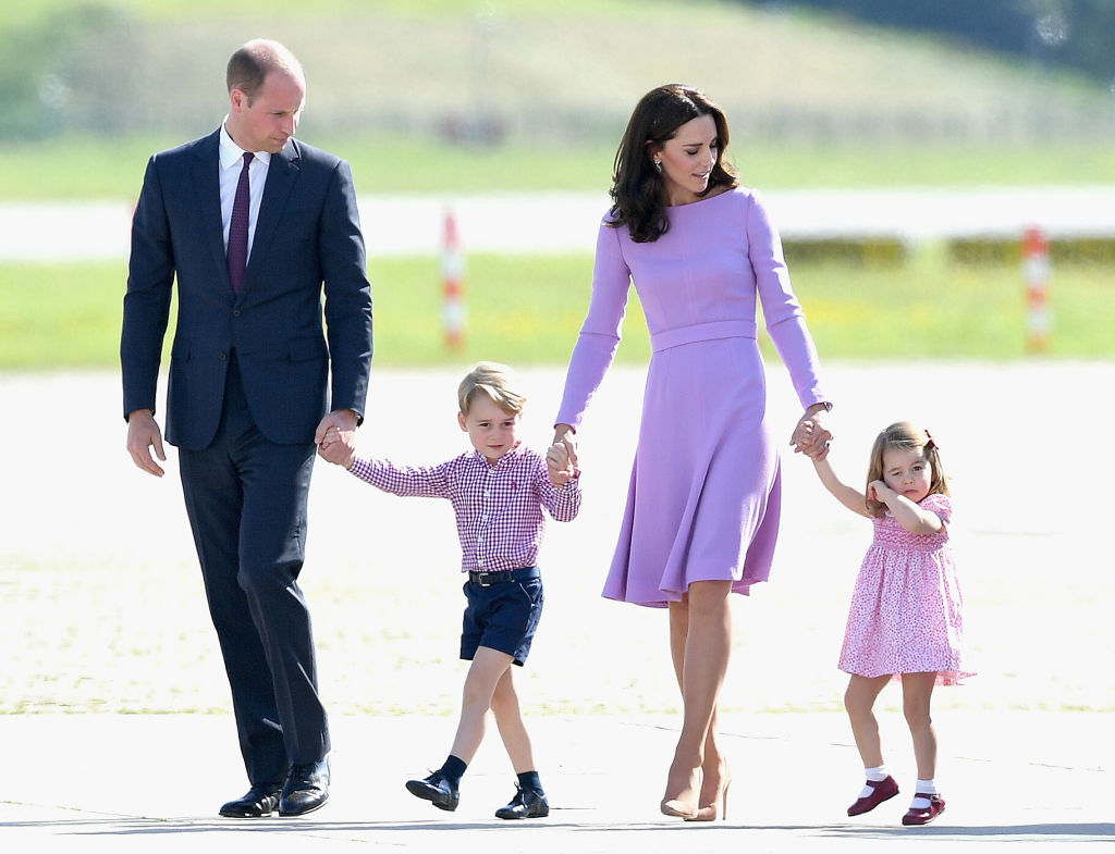 Prince William and Kate Middleton with their family