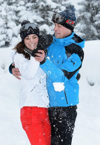 Kate Middleton and Prince William in the French Alps.