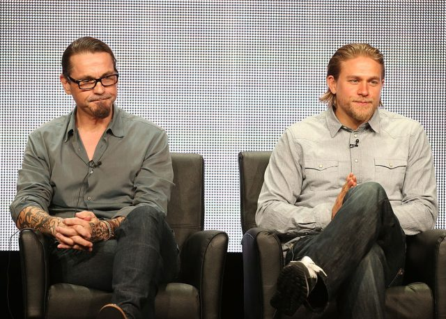 Kurt Sutter and Charlie Hunnam of 'Sons of Anarchy'