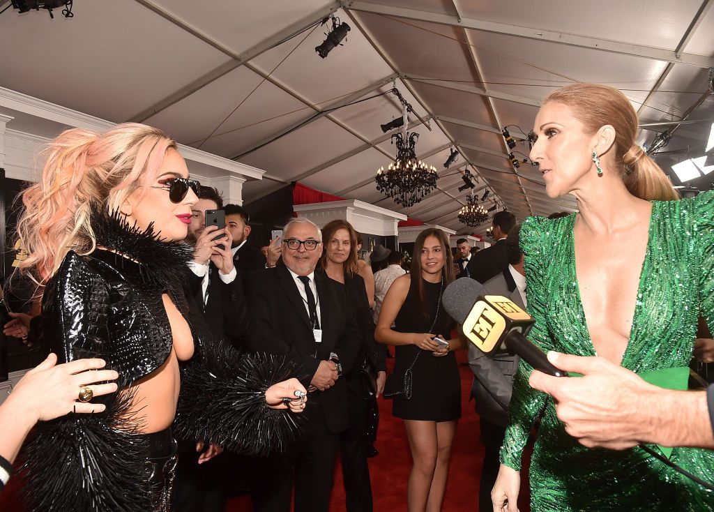 Lady Gaga and Celine Dion   Alberto E. Rodriguez/Getty Images for NARAS