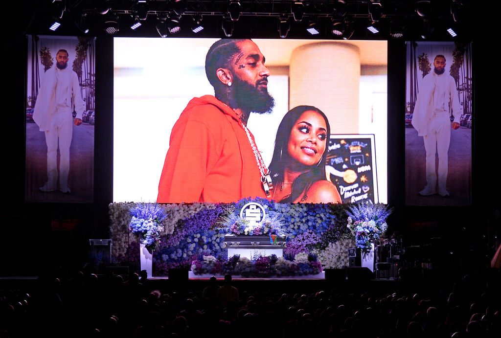 Staples Center at Nipsey Hussle's Celebration of Life|Kevork Djansezian/Getty Images For All Money In Records and Atlantic Records