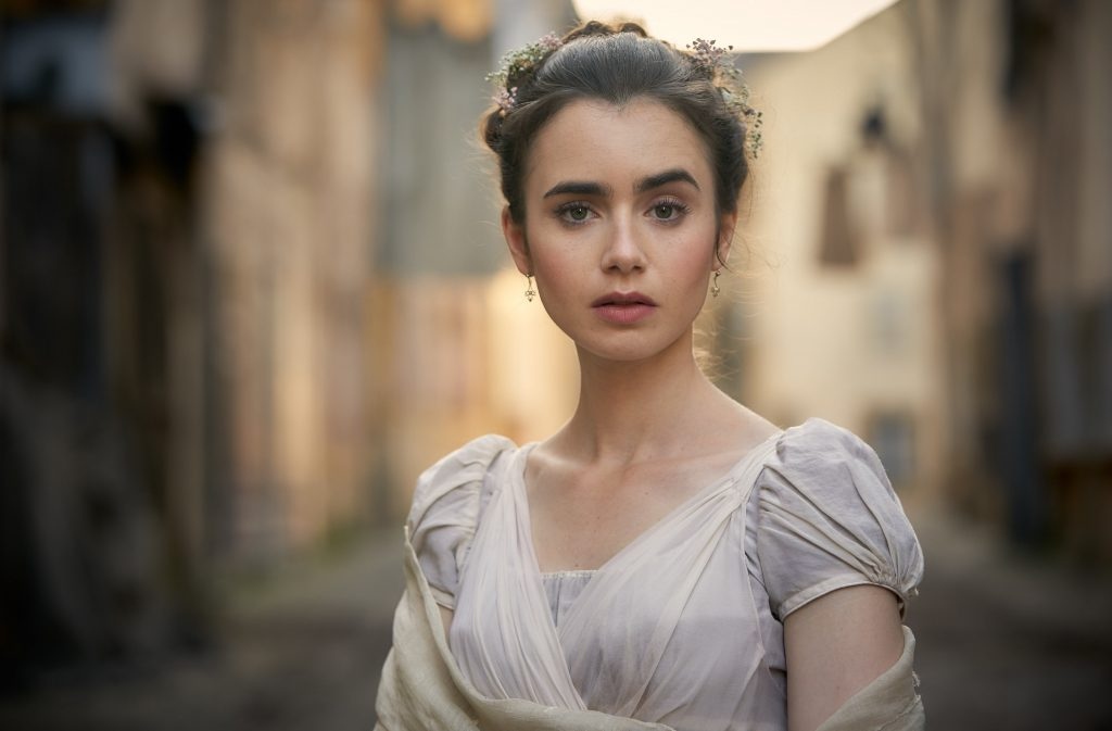 Lily Collins as Fantine in  Les Misérables