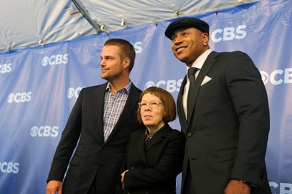 Linda Hunt with NCIS Los Angeles cast mates Chris O'Donnell and LL Cool J Heather Wines/CBS via Getty Images