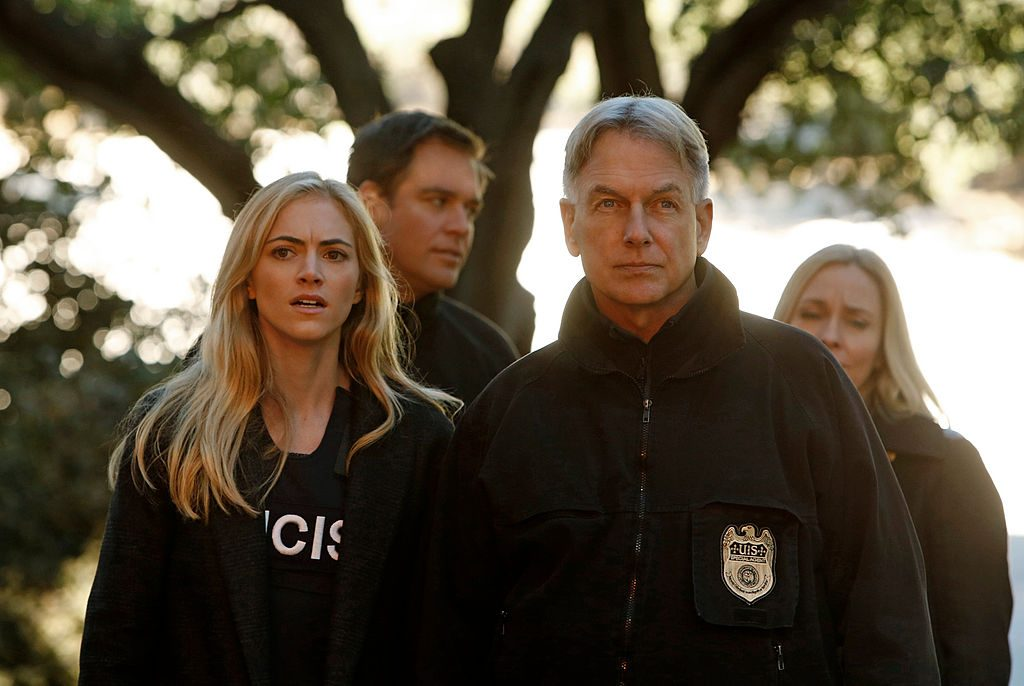 Mark Harmon with cast of NCIS|Cliff Lipson/CBS via Getty Images
