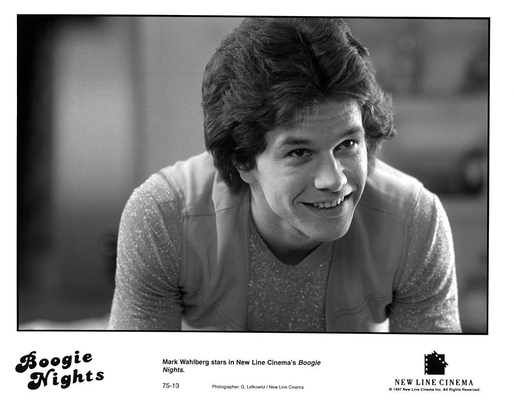 Mark Wahlberg on set of Boogie Nights