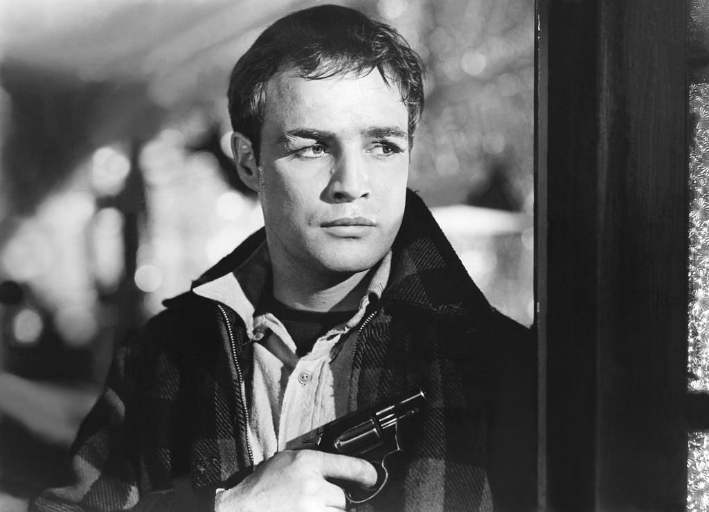 """Marlon Brando on the set of """"On The Waterfront'"""