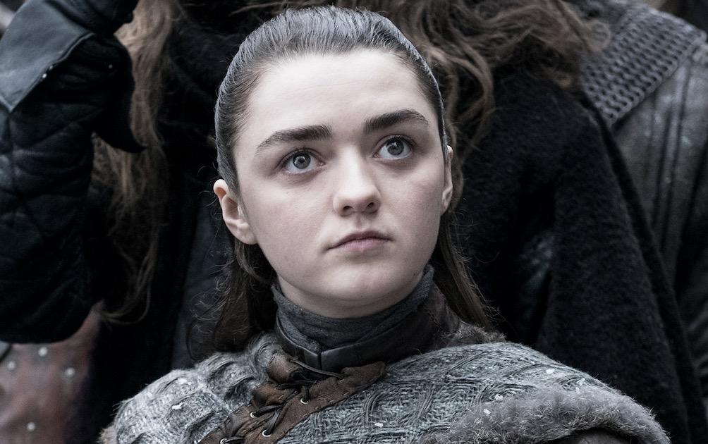 Maisie Williams as Arya Stark on