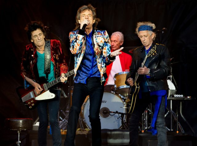 Mick Jagger, Keith Richards, Charlie Watts, and Ronnie Wood