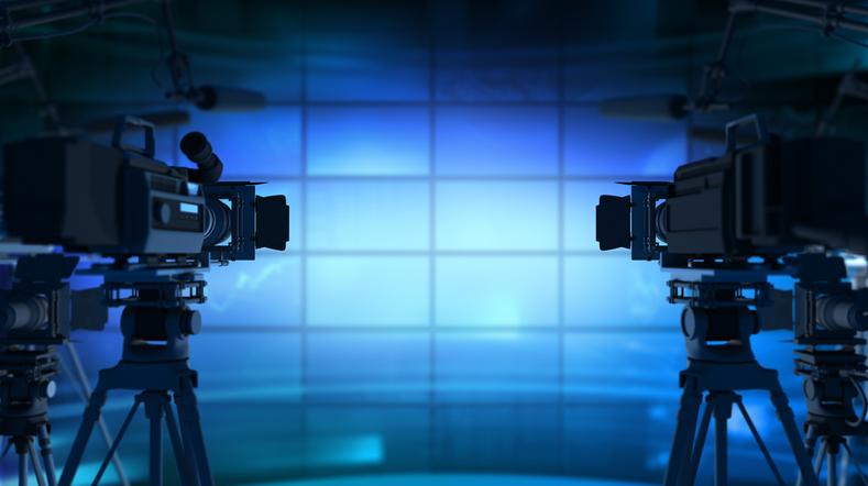 3D rendering of movie cameras
