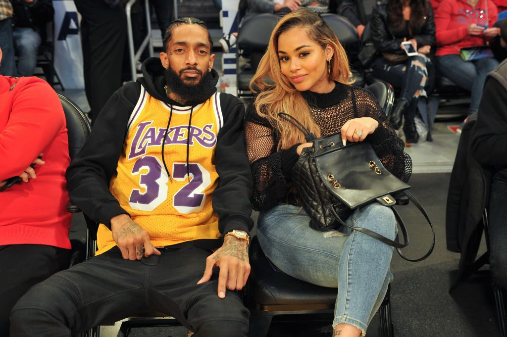 Nipsey Hussle and Lauren London|Allen Berezovsky/Getty Images