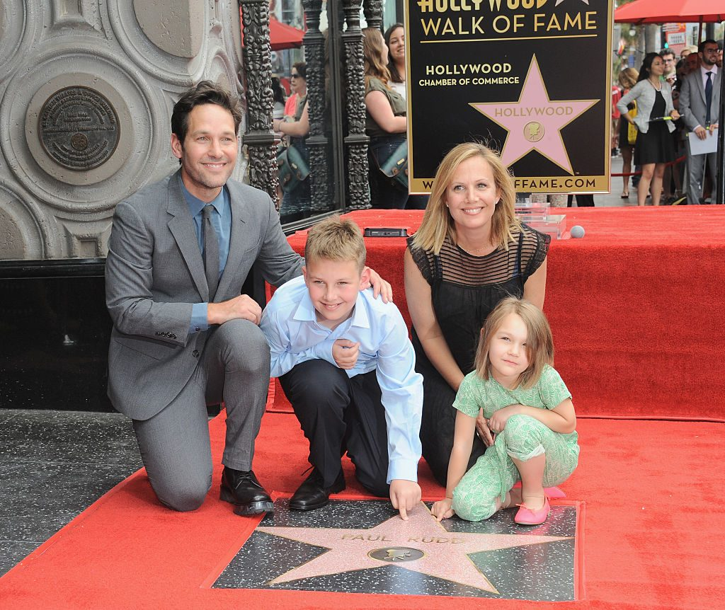Paul Rudd and wife Julie Yaeger with children Jack and Darby