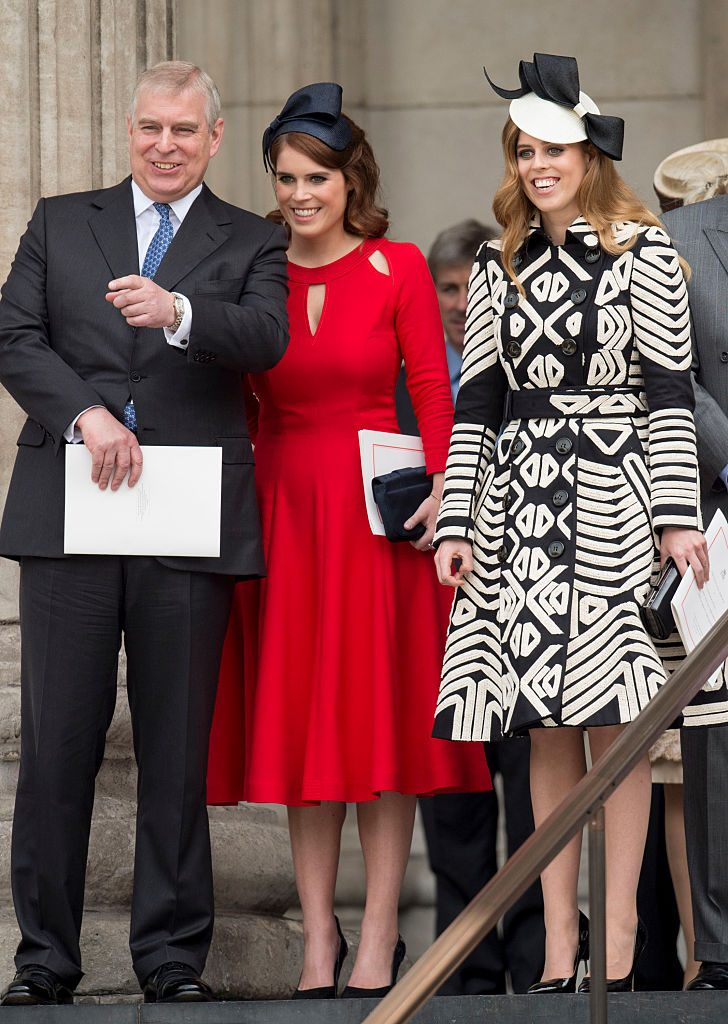 Prince Andrew, Duke of York with Princess Beatrice and Princess Eugenie