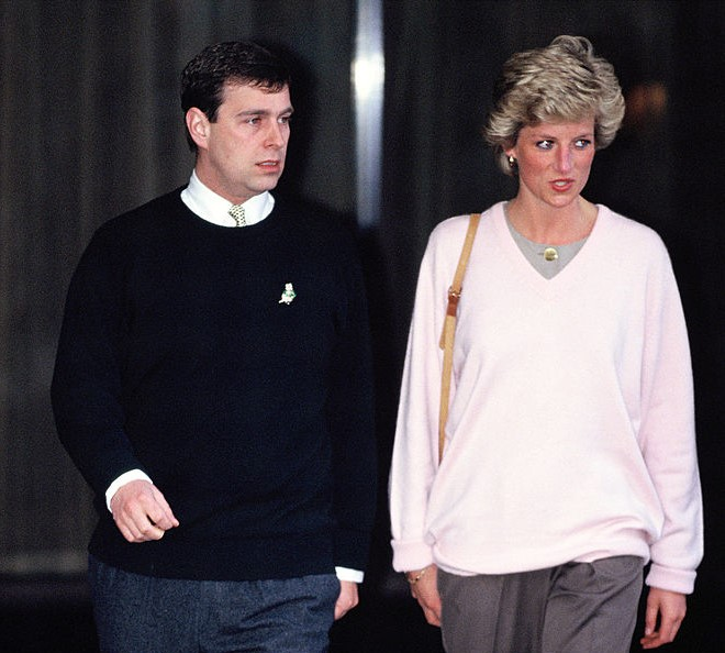 Prince Andrew and Princess Diana