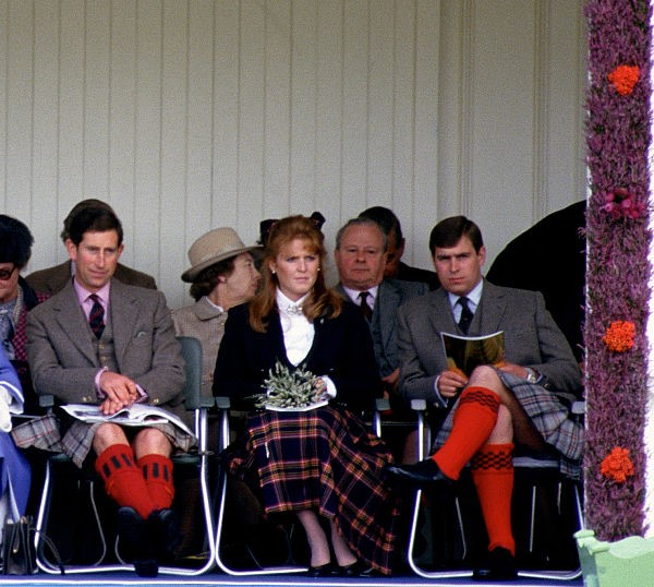 Prince Charles, Sarah Ferguson, and Prince Andrew