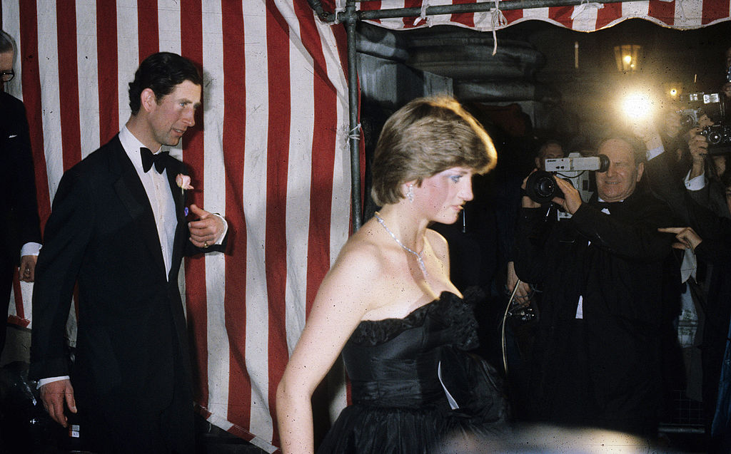 Prince Charles and Diana at her first official engagement.