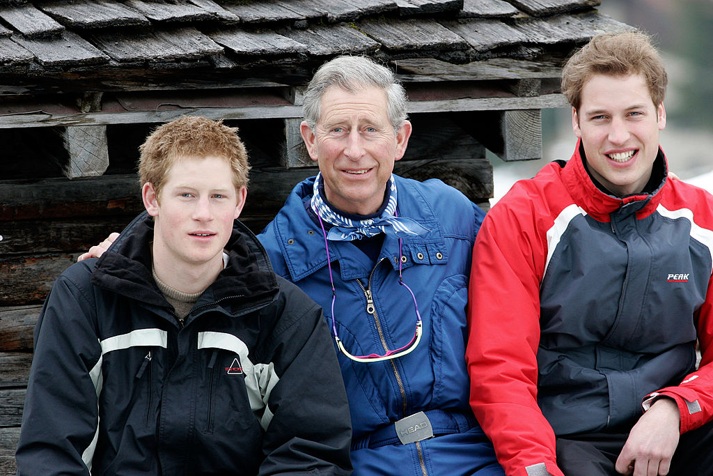 Prince Charles with his sons