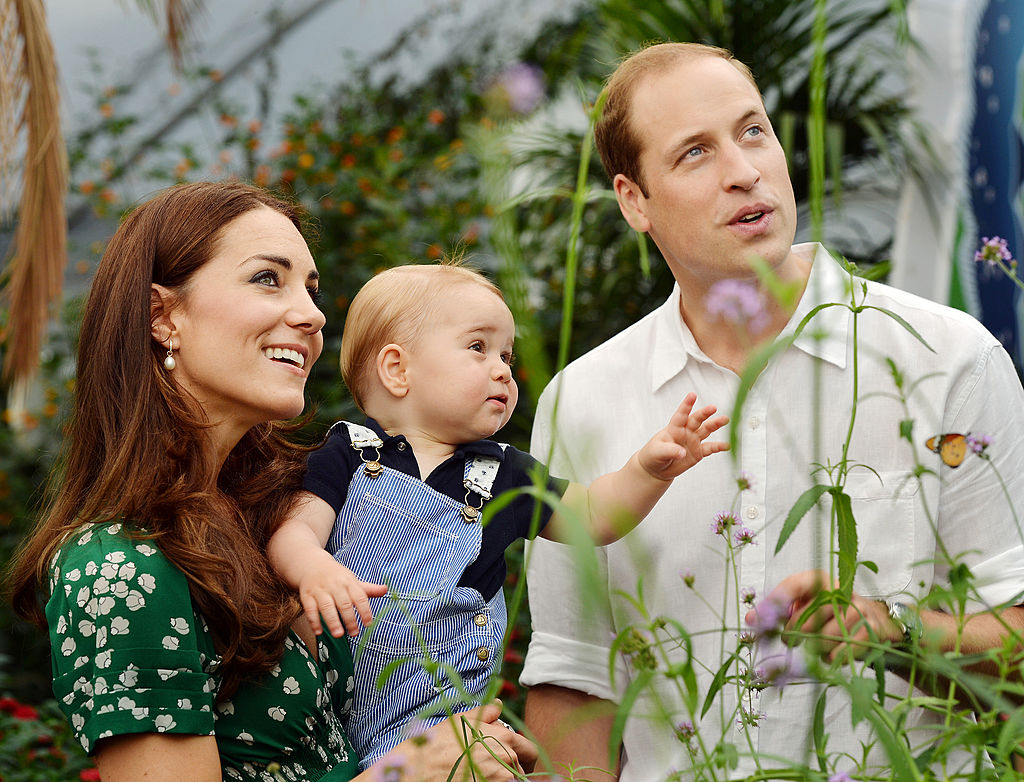 Prince George, Prince William, and Kate Middleton