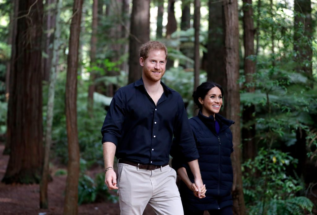 Prince Harry and Meghan Markle in New Zealand.