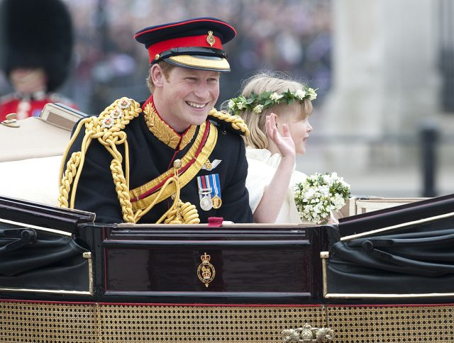 Prince Harry at Prince William and Kate Middleton's wedding.