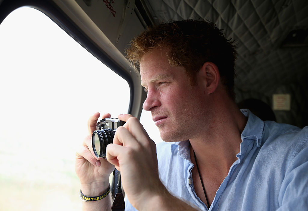 Prince Harry with camera