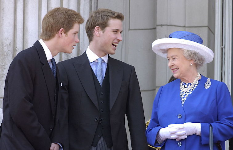 Prince Harry Prince William Queen Elizabeth