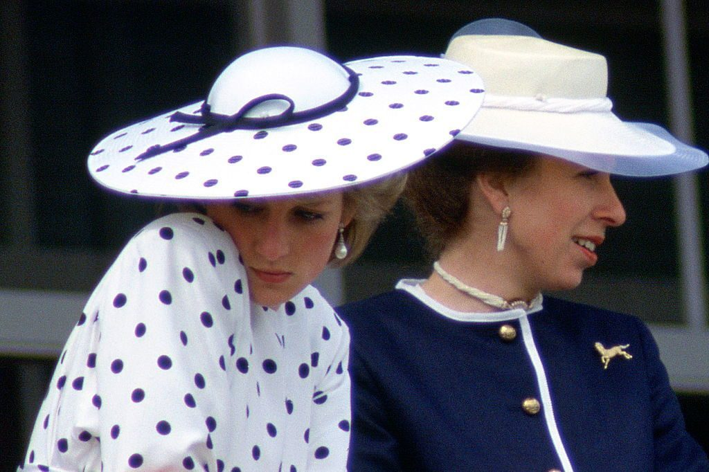 Princess Diana and Princess Anne