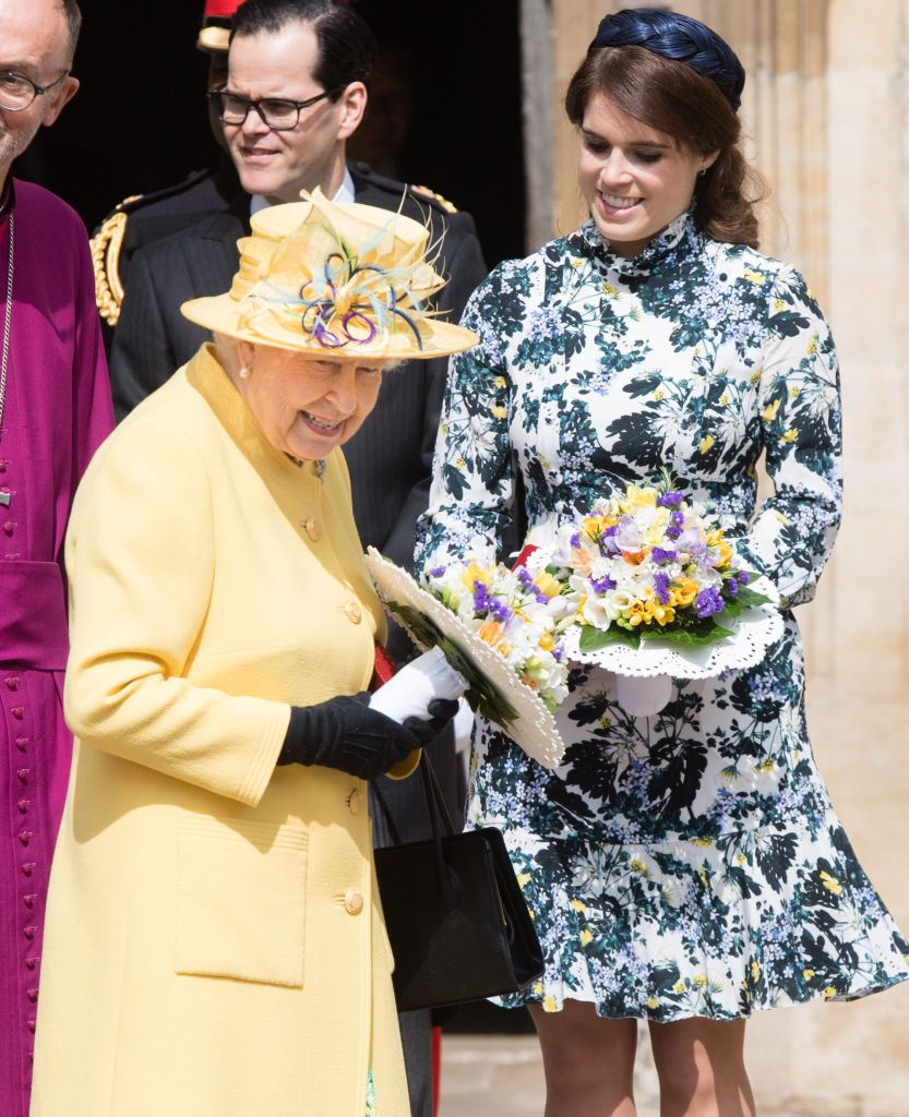 Queen Elizabeth and Princess Eugenie at Royal Maundy Service