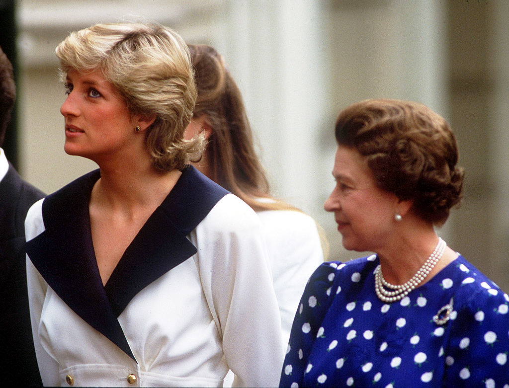 Queen Elizabeth and Princess Diana