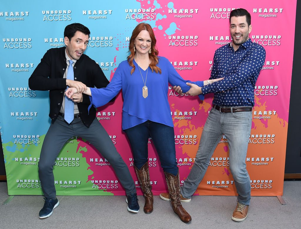 Ree Drummond with Property Brothers Jonathan Scott and Drew Scott| Michael Loccisano/Getty Images for Hearst