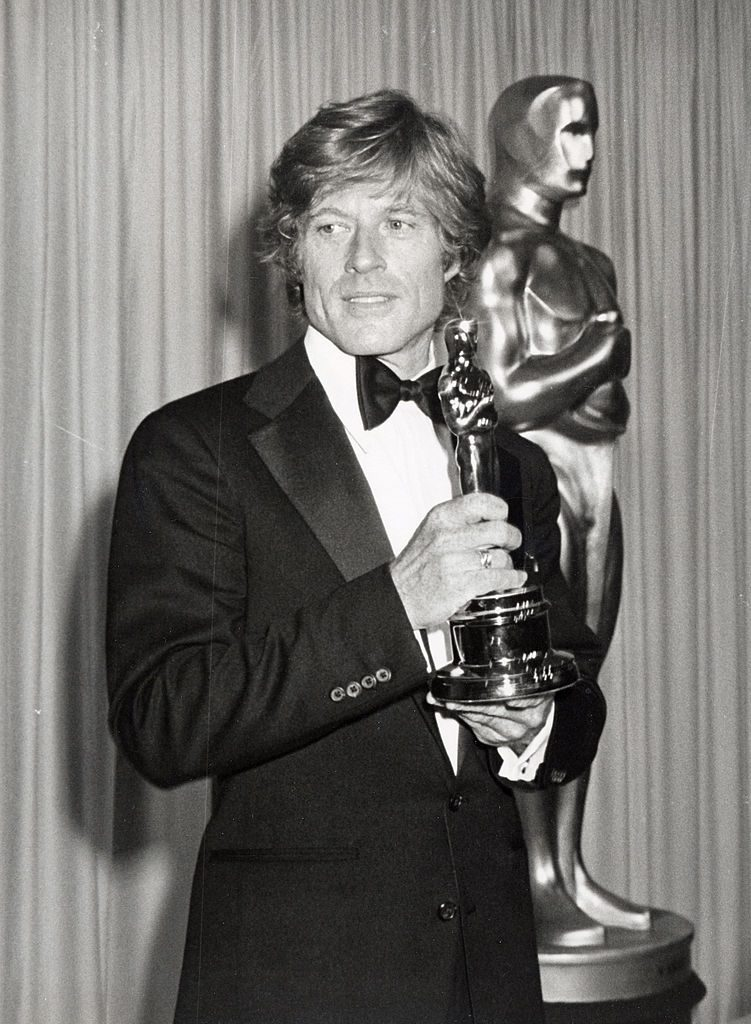 Robert Redford with his Oscar for 'Ordinary People'