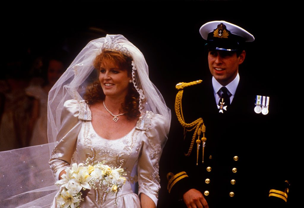 Sarah Ferguson and Prince Andrew's wedding day