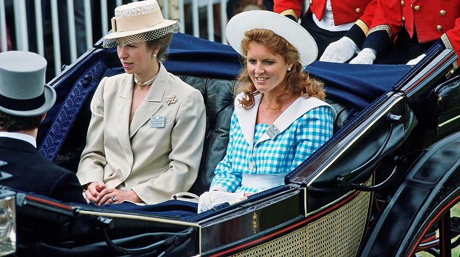 Sarah Ferguson and Princess Anne