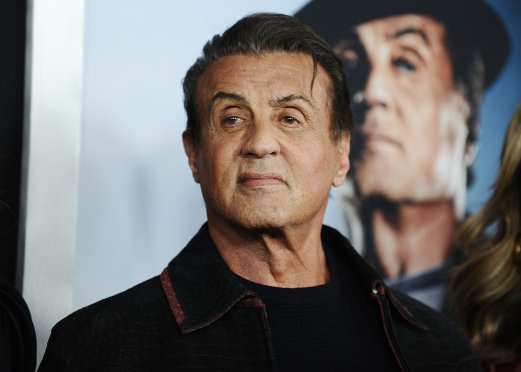 Red carpet photo of Sylvester Stallone