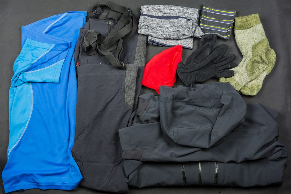 Synthetic hiking clothes
