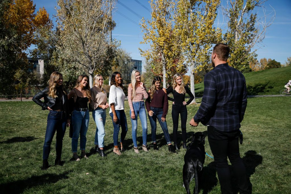 """Colton Underwood and """"Bachelor"""" contestants"""