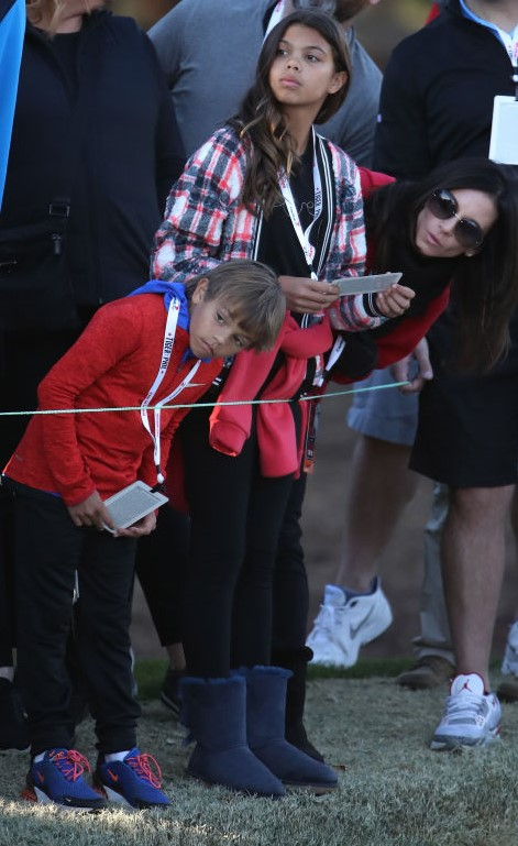 Tiger Woods' children Sam and Charlie with Erica Herman