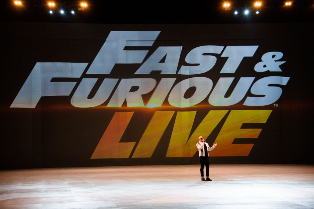 Vin Diesel introduces the 'Fast and Furious Live'Premiere at The O2 Arena|Joe Maher/WireImage
