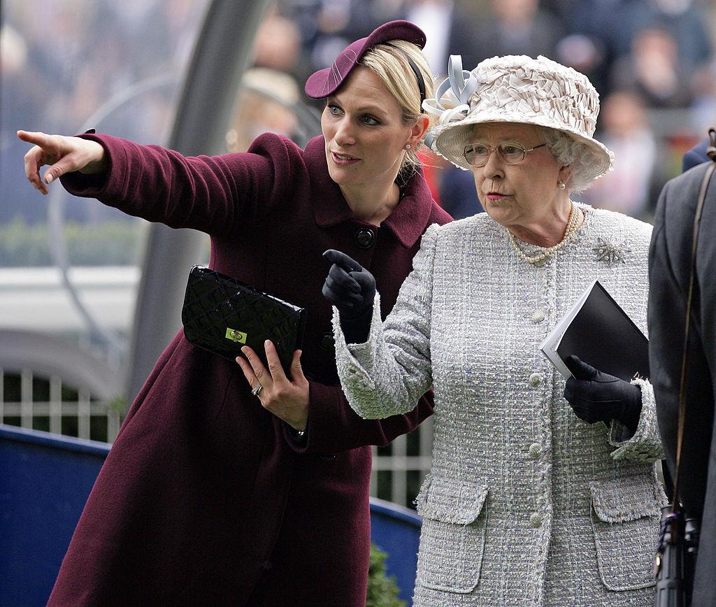 Zara Tindall and Queen Elizabeth