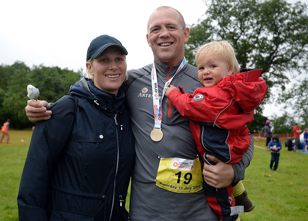 Zara Tindall, Mike Tindall, and Mia Tindall