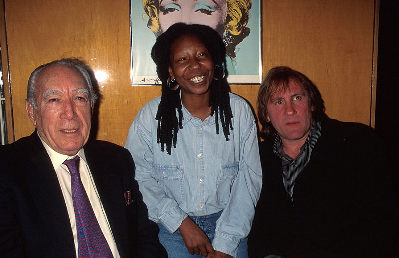 whoopi with anthony quinn and gerard depardieu