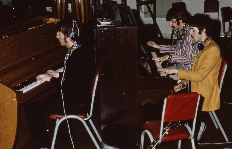 Beatles on piano
